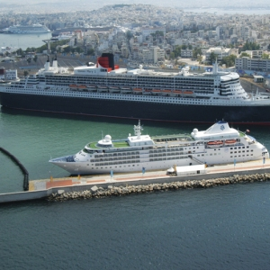 Queen Mary 2 at Piraeus Port
